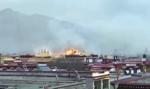 Pożar jednej z nastarszych świątyń buddyjskich w Tybecie