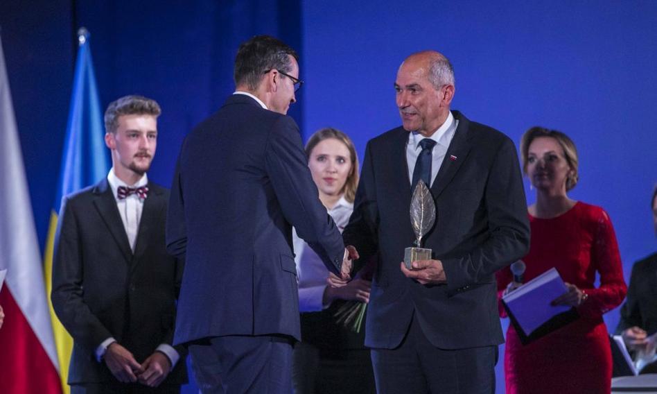 Premier Słowenii z nagrodą Człowieka Roku 2020 Forum Ekonomicznego