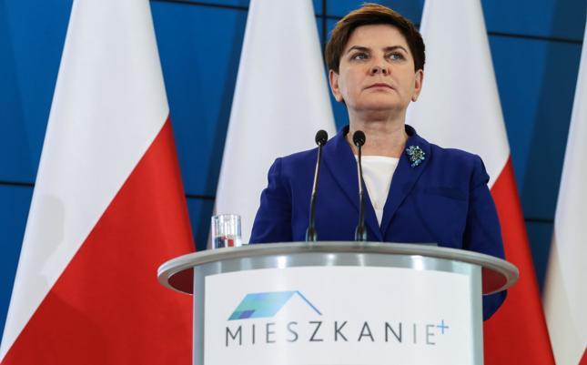 Premier Beata Szydło podczas prezentacji projektu Mieszkanie Plus