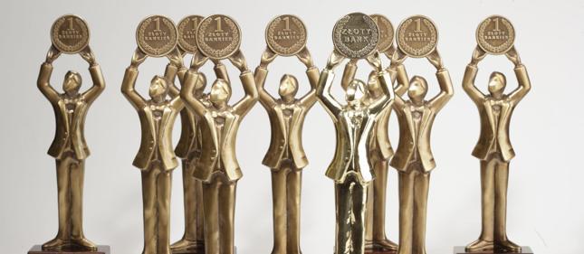 Zwycięskie banki otrzymają statuetki Złoty Bankier