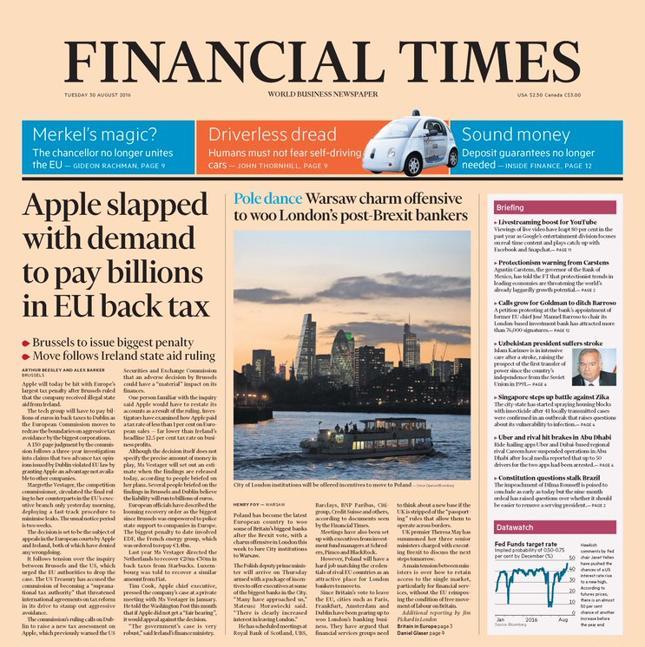 """Misja Morawieckiego na okładce """"Financial Times"""""""