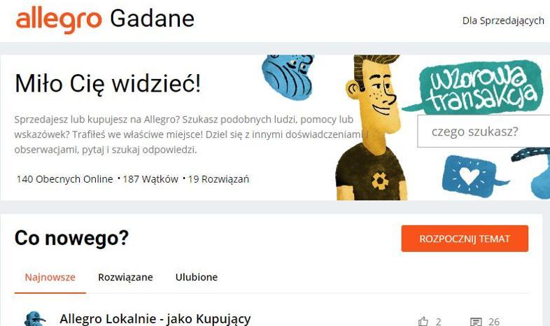 Allegro Gadane Ruszyl Serwis Spolecznosciowy Dla Kupujacych I Sprzedajacych Bankier Pl