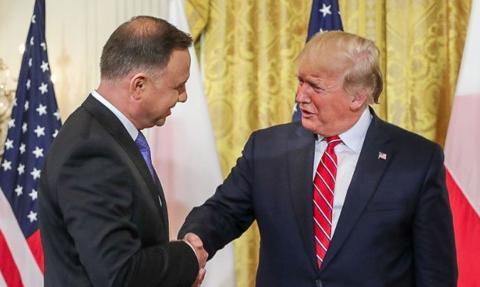 Duda: Prezydent Trump może przyjechać do Polski podczas pobytu w Europie