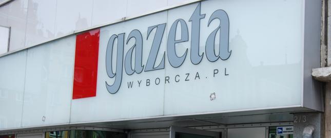 """Średnia sprzedaż """"Gazety Wyborczej"""" w XII spadła o 8,6 proc. rdr"""