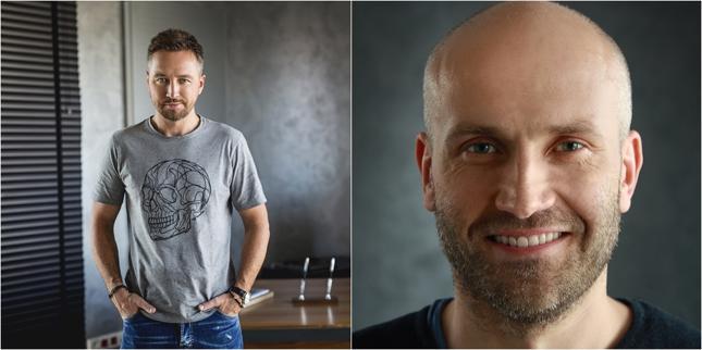 """Od lewej: Paweł Marchewka, CEO Techlandu; Tymon Smektała, Lead Designer """"Dying Light 2"""""""