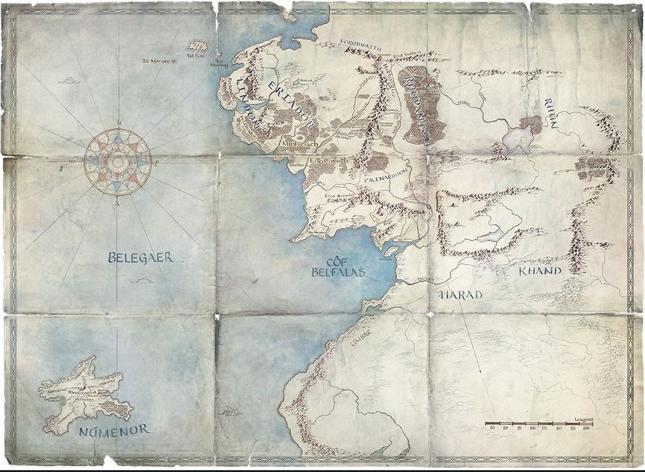 Kliknij na mapę, by bliżej poznać Śródziemie w wersji Amazona