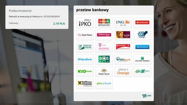 Przykład strony, która udaje platformę obsługującą szybkie płatności