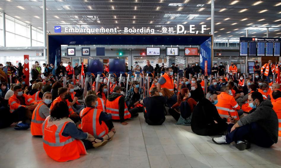 Chaos na lotnisku w Paryżu przez protest pracowników