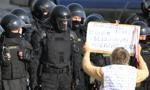 Protest emerytów w centrum Mińska