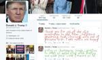 """""""Make Trump Tweets Eight Again"""" wstawia dziecięce pismo w tweety prezydenta USA"""