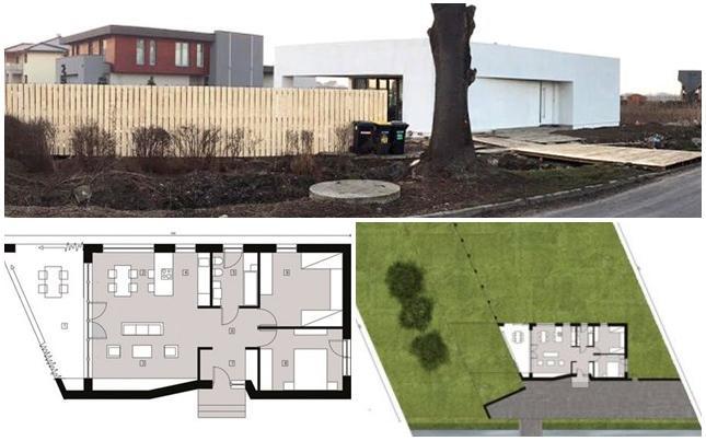 NANO House - rzut parteru oraz lokalizacja budynku na działce