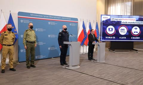 Szef MSWiA: 10 mld zł na modernizację służb mundurowych
