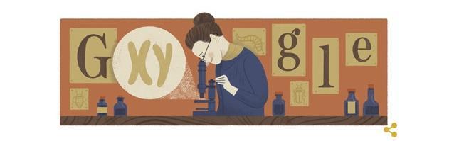 Nettie Stevens na dzisiejszym Google Doodle