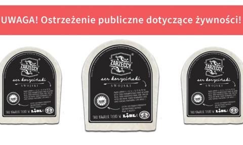 GIS wycofał partię produktu Ser koryciński swojski naturalny, dojrzewający