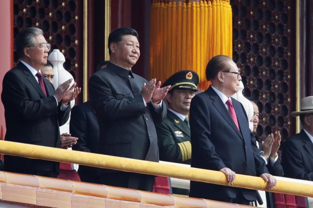 Hu Jintao, Xi Jinping i Jiang Zemin
