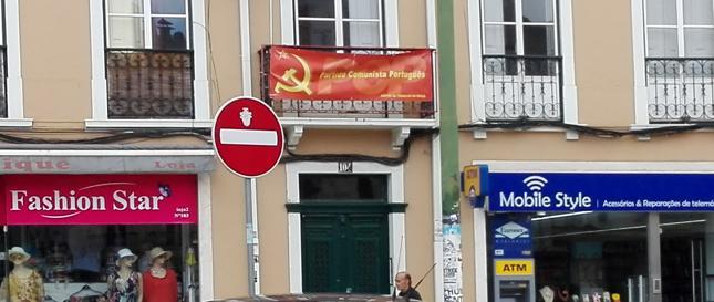 Lokal partii komunistycznej w centrum Lizbony.