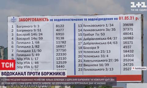 Ukraińskie wodociągi wywiesiły adresy osób zalegających z opłatami na billboardach
