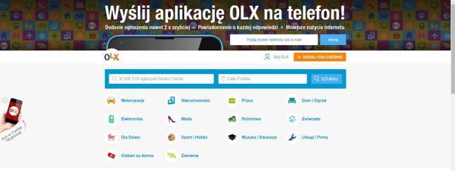 OLX wprowadza nowe opłaty za ogłoszenia