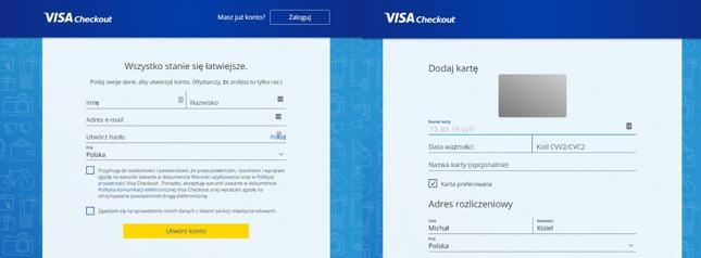 Proces rejestracji jest prosty - wymaga m.in. podania danych kart płatniczych