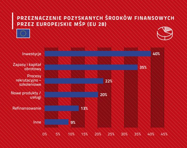 Przeznaczenie otrzymanych pieniędzy w europejskich firmach