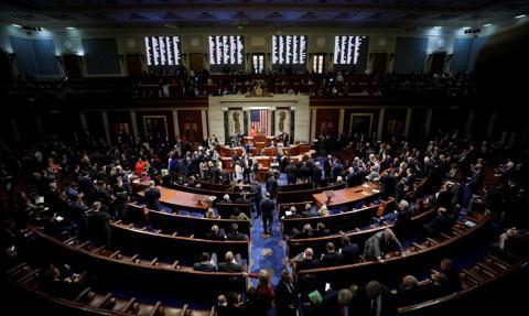 Kongres USA za karaniem banków współpracujących z władzami Chin