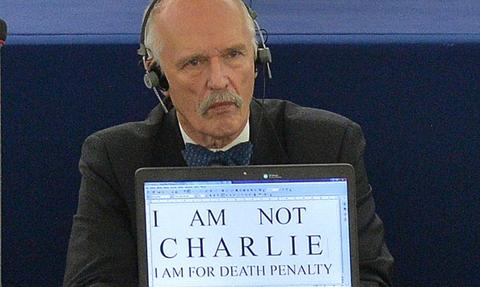 Kontrowersyjne wypowiedzi Korwin-Mikkego; szef PE nie wyklucza kary