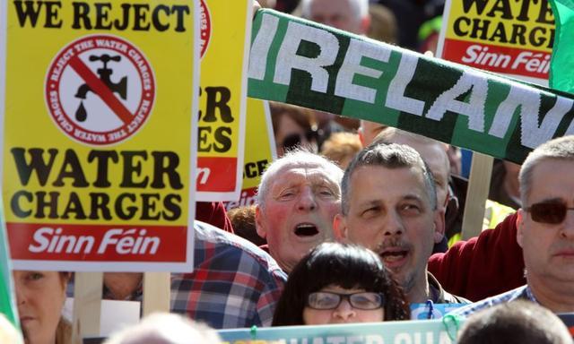 Irlandia: Wielotysięczny protest przeciw wprowadzeniu opłat za wodę