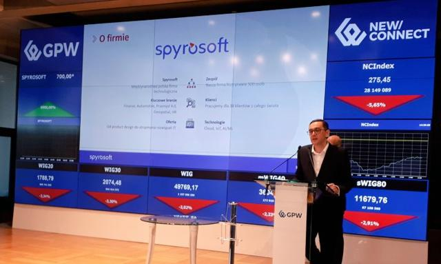 Spyrosoft chce w '21 przejść na rynek regulowany GPW