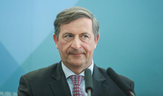 Szef słoweńskiego MSZ Karl Erjavec