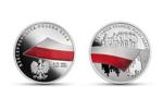 Moneta kolekcjonerska NBP na 100-lecie polskiej flagi państwowej