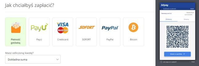 Płatności w Pyszne.pl obsługuje BitPay