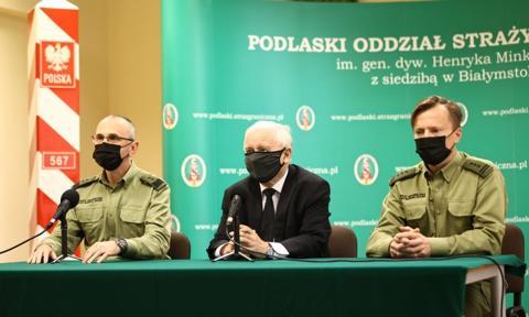 Kaczyński: Podjęto decyzję o budowie bardzo poważnej zapory na granicy