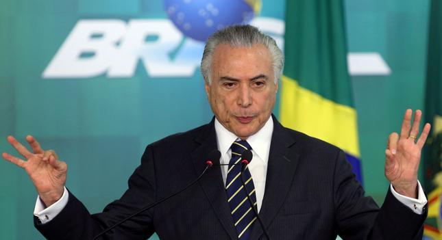Prezydent Brazylii Michel Temer.