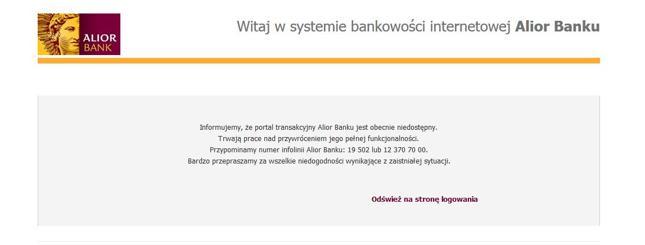 Awaria - Alior Bank
