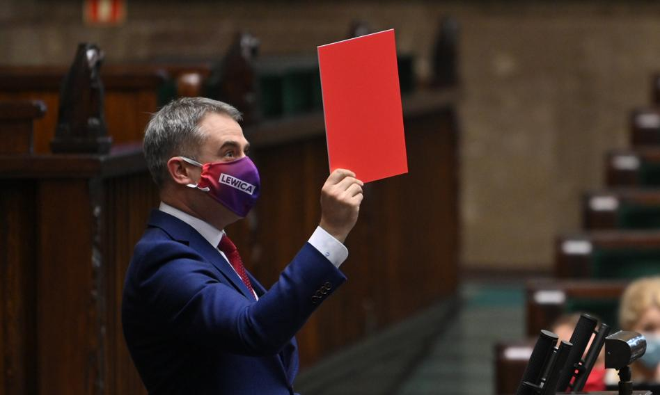 Gawkowski: Dzisiejsze posiedzenie Sejmu to kpina. Dajemy premierowi 12 godzin na informację