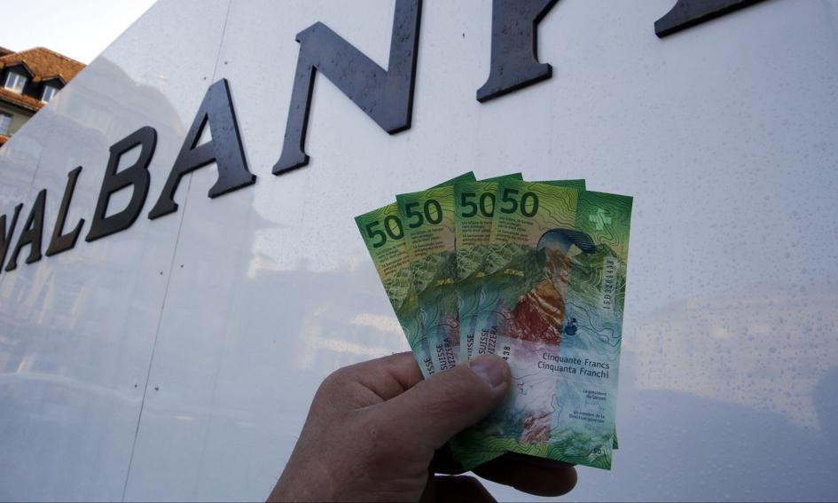 Oprocentowanie franka wciąż głęboko ujemne. SNB podtrzymuje gotowość do interwencji