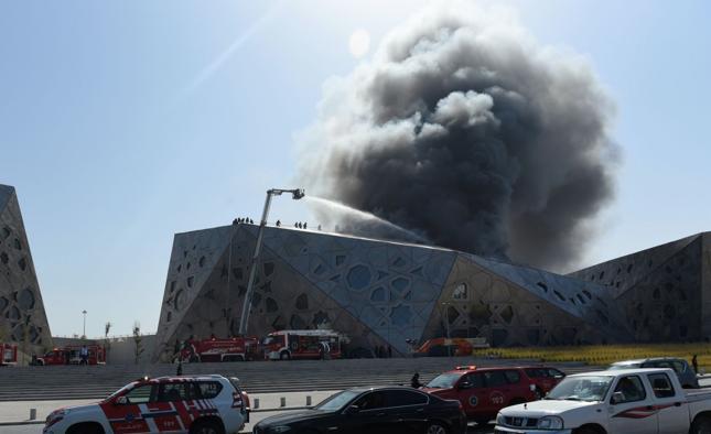 Pożar budynku nowej opery w Kuwejcie