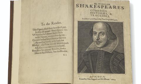 Zbiór dzieł Szekspira z 1623 roku sprzedany za 9,97 mln dolarów