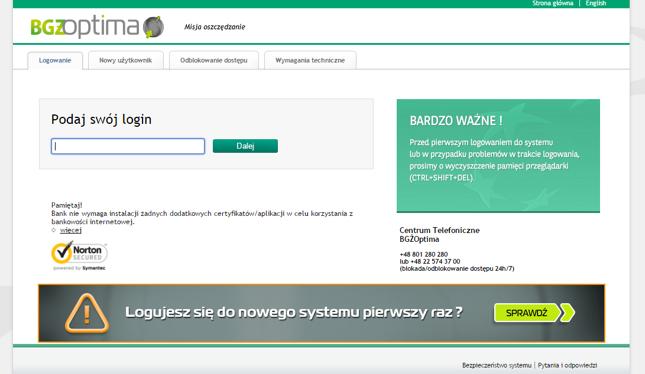 Nowy system bankowości internetowej w BGŻOptima