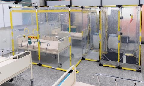 Szpital tymczasowy w Katowicach będzie gotowy z końcem tygodnia