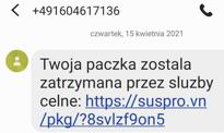 """SMS o """"przejęciu paczki przez służby celne"""" to oszustwo - ostrzega PKO BP"""