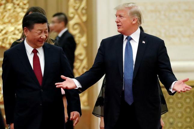 Spotkanie przewodniczącego Xi i prezydenta Trumpa w Pekinie w listopadzie 2017 r.