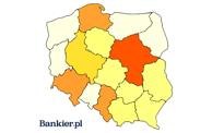 Giełdowa mapa Polski