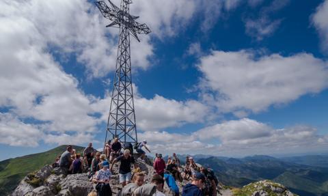 Bardzo duży ruch turystyczny w Tatrach