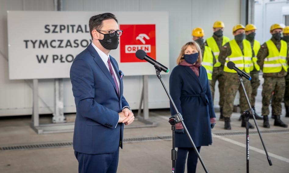 PKN Orlen zakończył pierwszy etap budowy szpitala tymczasowego