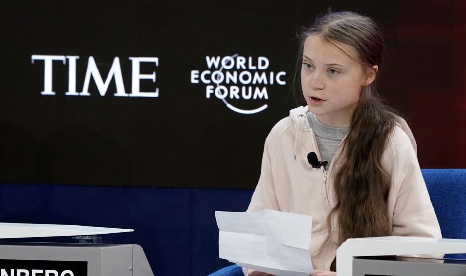 Greta Thunberg w Davos: Nie zrobiono nic dla klimatu
