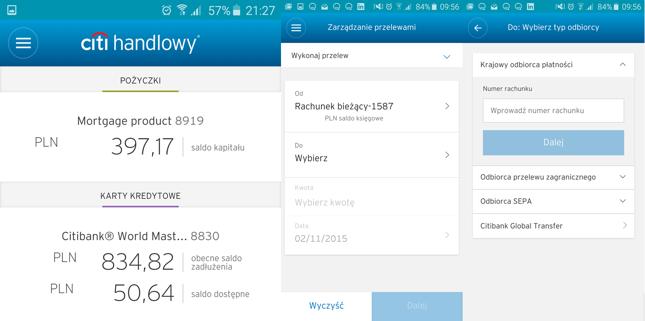 Aplikacja mobilna Citi Handlowy