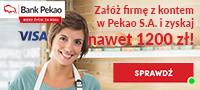Konto Firmowe i Karta za bezwarunkowe 0 zł przez rok wraz z premią do 1200 zł