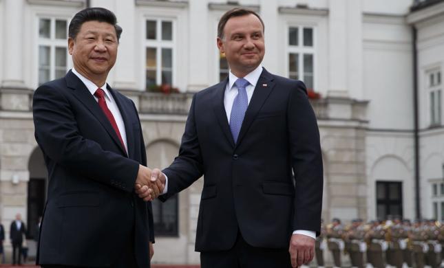 Przewodniczacy CHRL Xi Jinping i prezydent Andrzej Duda