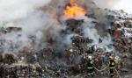 Strażacy opanowali pożar na składowisku odpadów w Kędzierzynie-Koźlu